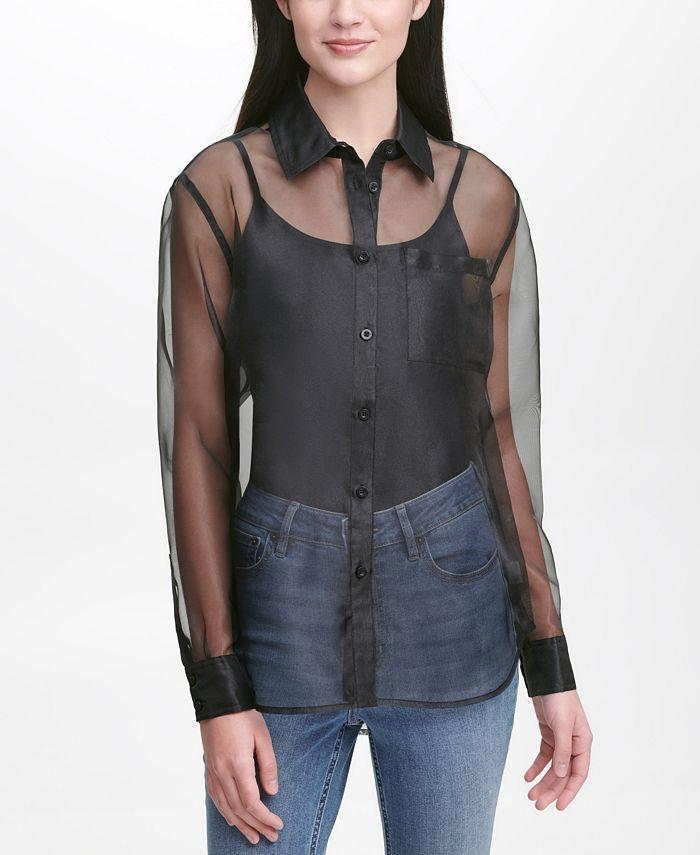 Calvin Klein Jeans - Organza Button-Front Shirt