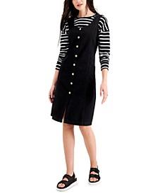 Petite Cotton Denim Dress, Created for Macy's