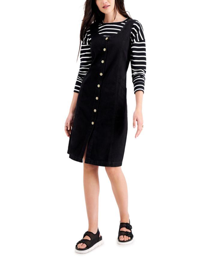 Style & Co Plus Size Cotton Denim Midi Dress, Created for Macy's & Reviews - Dresses - Plus Sizes - Macy's