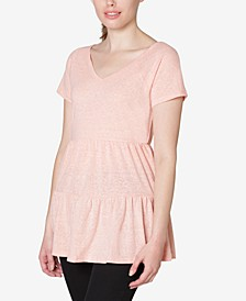 Juniors' Knit Tiered Babydoll T-Shirt