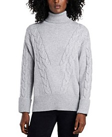 Women's Cable Stitch Turtleneck Sweater