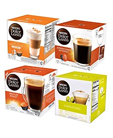 Four Dolce Gusto Coffees Bundle, Pack of 4