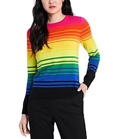 Kyla Striped Rainbow Sweater, Created for Macy's