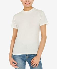 Juniors' Mock-Neck T-Shirt