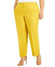 Plus Size Elastic-Back Pants