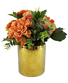 Exotic Escape Artificial Dahlia Centerpiece, Created for Macy's