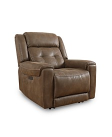 Rihaan Fabric Power Recliner, Created for Macy's