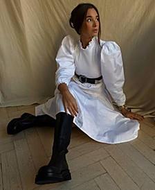 Long Sleeve Poplin Dress, Created For Macy's
