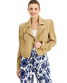 INC Plus Size Cotton Gauze Moto Jacket, Created for Macy's