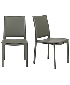 Kate Dining Chair in Leatherette - Set Of 2