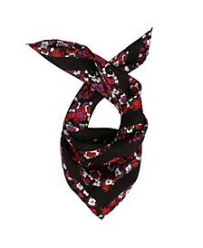 Women's Floral Logo Print Bandana