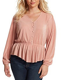 Trendy Plus Size Bettina Pleated Top