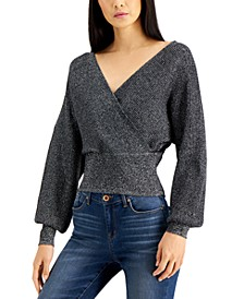 INC Metallic Surplice Sweater, Created for Macy's