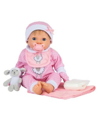Tiny Treasures Toy Baby Doll with Outfit Set