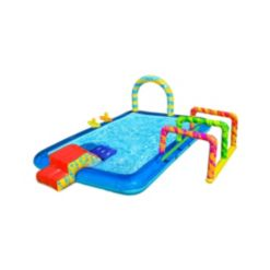 Banzai Obstacle Course Activity Pool with Sprinklers