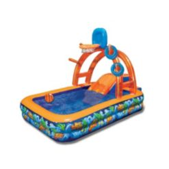 Banzai Wild Waves Water Park with Sprinkling Arch, Basketball hoop, and Ring Toss Game