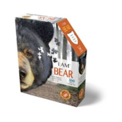 Madd Capp Games - I Am Bear - 300 Pieces - Animal Shaped Jigsaw Puzzle