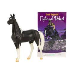 Breyer Freedom Series National Velvet-Textured Horse and Book Toy Set