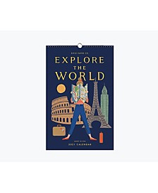 2021 Explore the World Wall Calendar