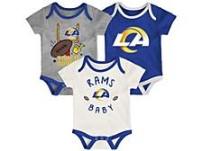 Los Angeles Rams Newborn Champ 3 Piece Set