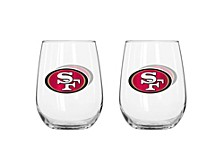 San Francisco 49ers 16oz Curved Glass