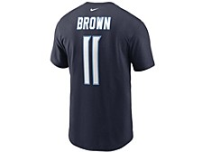 Tennessee Titans Men's Pride Name and Number Wordmark T-Shirt - AJ Brown