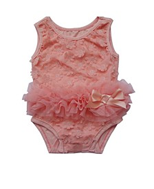 Baby Girls 3D Flower Bodysuit