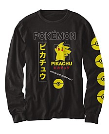 Big Boys Pokemon Pikachu Kanji T-shirt
