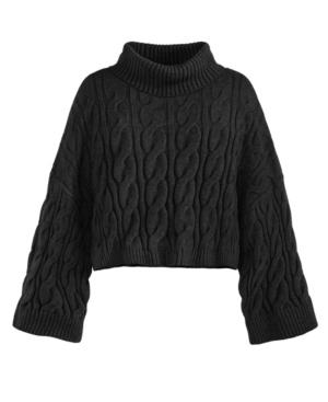 Women's Cropped Turtleneck Sweater