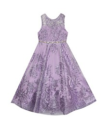 Toddler Girls Glitter Mesh Ballgown