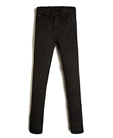 Big Girls Lurex Stretch Denim Skinny Jean