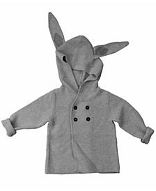 Baby Boys and Girls Organic Cotton Knit Bunny Jacket