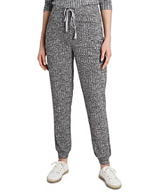 Cozy Wide-Ribbed Drawstring Pants, Created for Macy's