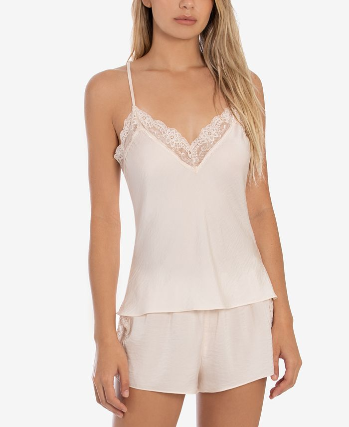 Linea Donatella - Satin Strappy-Back Cami & Tap Shorts Pajama Set