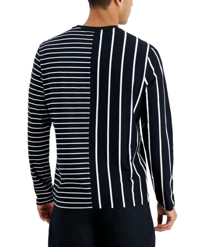 INC International Concepts INC Men's Stripe Block Long Sleeve T-Shirt, Created for Macy's & Reviews - T-Shirts - Men - Macy's