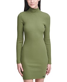 Ribbed-Knit Cotton Bodycon Dress