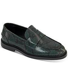 INC Men's Killian Snakeskin-Embossed Loafers, Created for Macy's