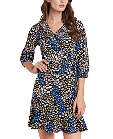 Paige Floral-Print Wrap Dress, Created for Macy's