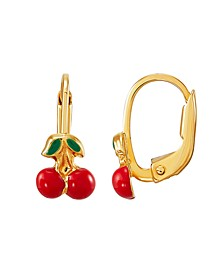 Children's Cherry Earrings in 10K Yellow Gold