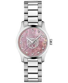 Women's Swiss G-Timeless Diamond (1/20 ct. t.w.) Stainless Steel Bracelet Watch 27mm