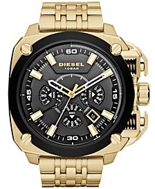 Chronograph Gold-Tone Stainless Steel Watch 55mm