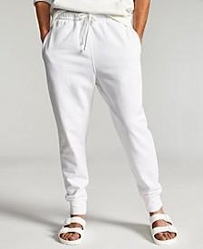 Men's Garment-Washed Fleece Joggers