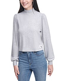 Blouson-Sleeve Sweater