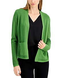 Petite Mesh Knit Cardigan, Created for Macy's