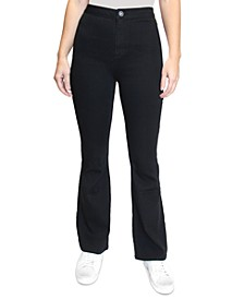 Crave Fame Juniors' High-Rise Flare Jeans