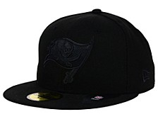 Tampa Bay Buccaneers Black on Black 59FIFTY Cap