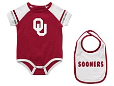 Infant Oklahoma Sooners Onesie & Bib Set