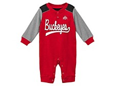 Infant Ohio State Buckeyes Scrimmage Long Sleeve Coverall