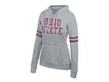 Women's Ohio State Buckeyes Essential Sleeve Stripe Hoodie