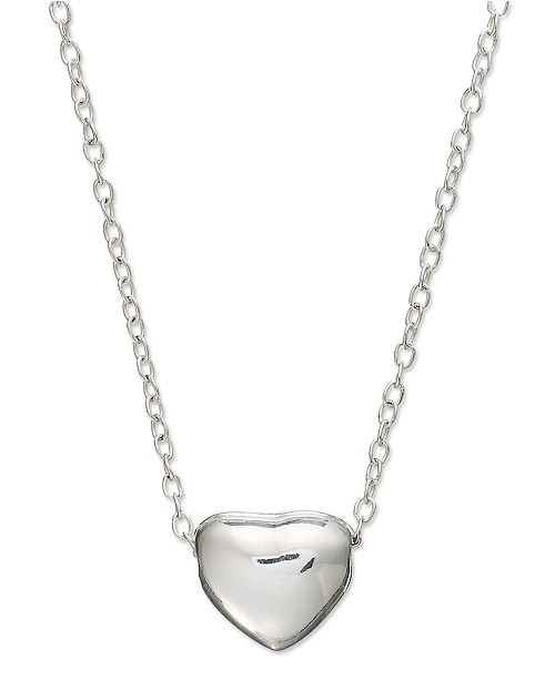 Unwritten mini heart pendant necklace in sterling silver necklaces unwritten mini heart pendant necklace in sterling silver necklaces jewelry watches macys aloadofball Images
